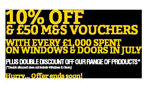 10% Discount Plus £50 M&S Vouchers