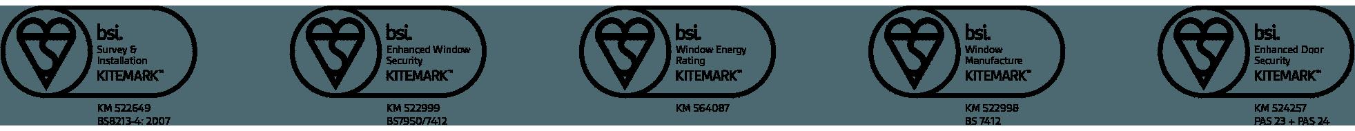 Quality guaranteed through BSi Kitemarks