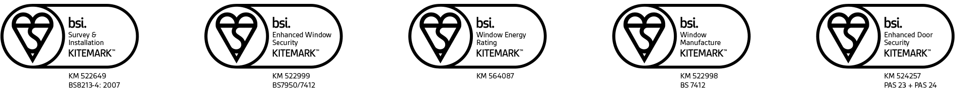 Quality guaranteed through BSi Kitemarks