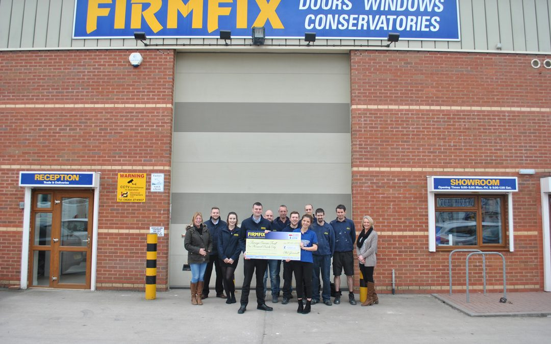 Teenage Cancer Trust receives bumper donation thanks to Firmfix customers!
