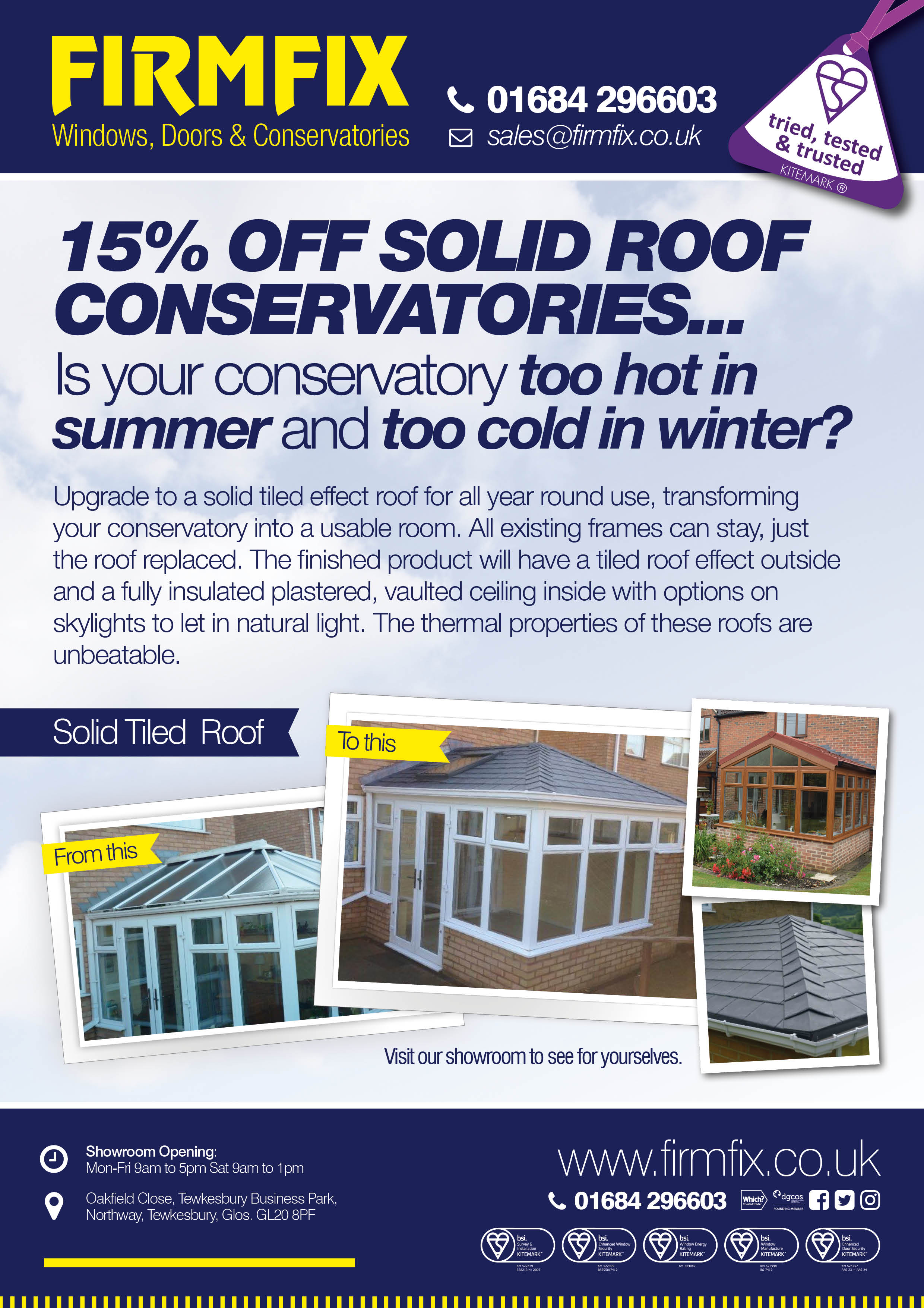 Solid Roof Upgrade Special Offer