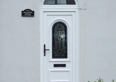 Firmfix-PVCu-White-Residential-Door-with-Arch